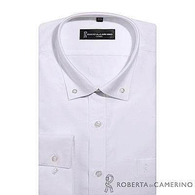 ROBERTA諾貝達 台灣製 合身版 純棉商務紳士長袖襯衫RDE78-91白色