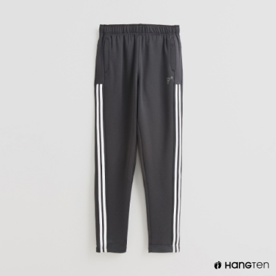 Hang Ten-童裝-側邊線條造型運動長褲-深灰