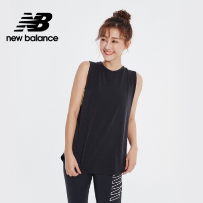 【New Balance】NB DRY 質感素面背心_女性_黑色_AWT01453BK