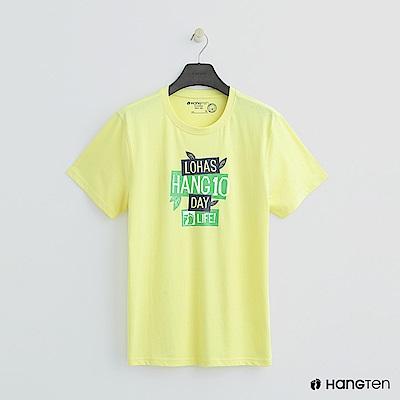 Hang Ten - 男裝 - 有機棉-樂活生活舒適T恤 - 黃