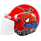蜘蛛人  亮紅兒童半罩安全帽(中童 頭圍52-57CM)