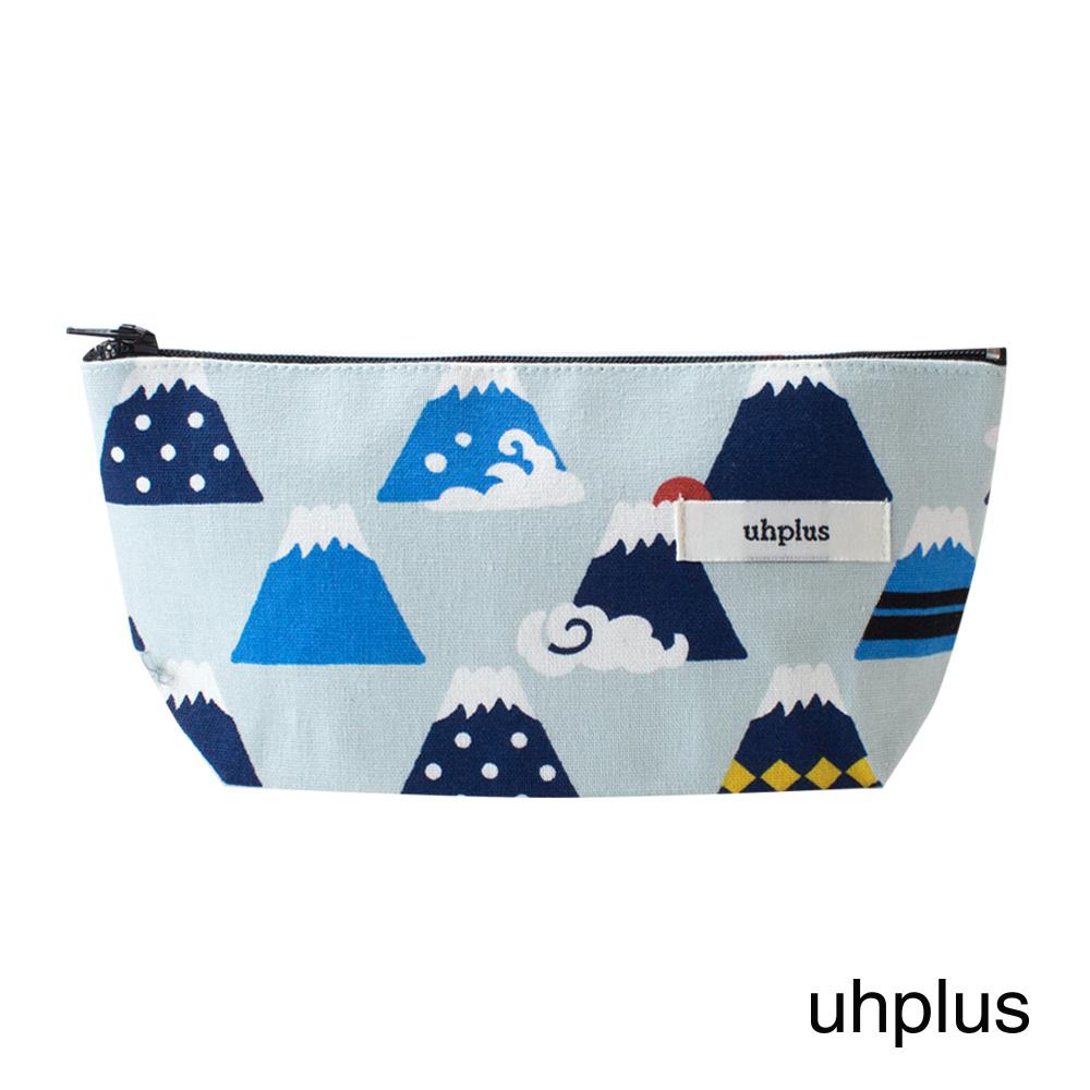 uhplus Q-plus萬用收納包- 微笑富士(水藍)
