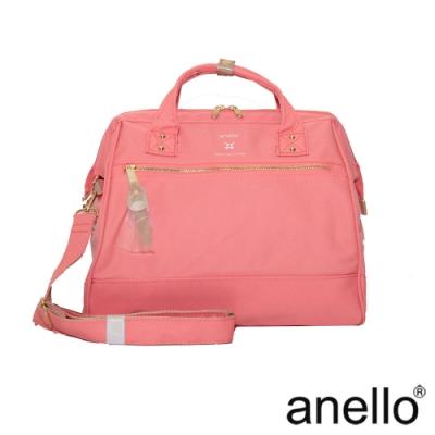 anello RE:MODEL 防潑水經典口金波士頓包 珊瑚粉  Regular
