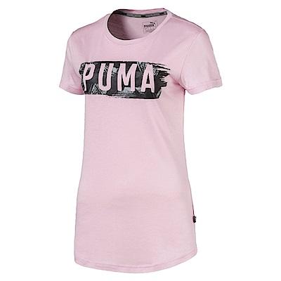 PUMA-女性基本系列Fusion短袖T恤-活力粉紫-亞規