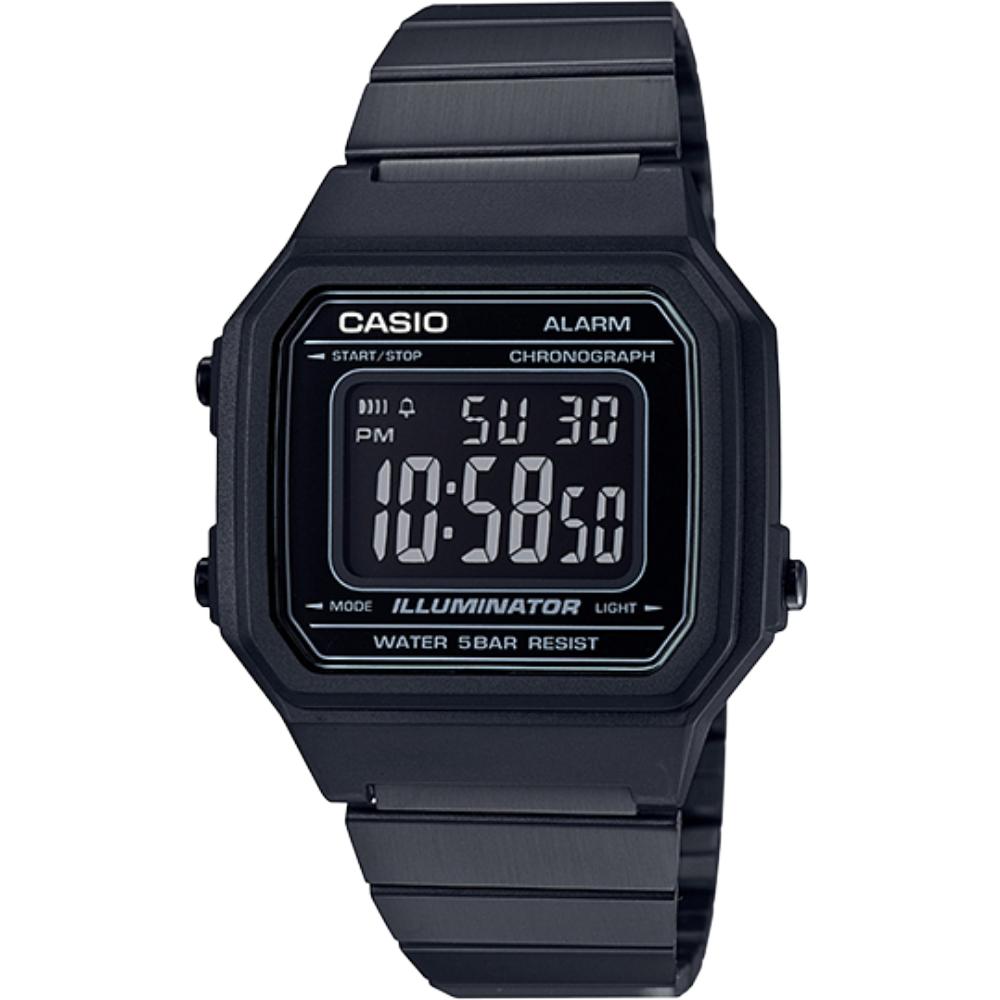 CASIO 復古文青風的大型數字數位錶-黑(B650WB-1B)/41mm
