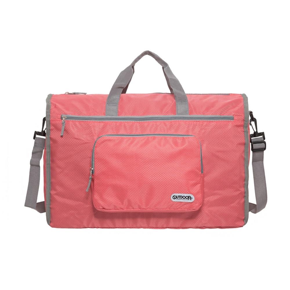 【OUTDOOR】旅遊配件-摺疊旅行袋(大)-珊瑚橘 ODS19A01LC