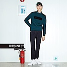 H:CONNECT 韓國品牌 男裝-特色標語針織上衣-綠
