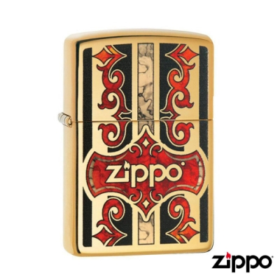美系Zippo 藤蔓之盾-雷雕防風打火機#29510