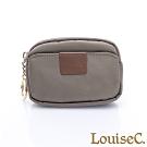 LouiseC. 尼龍簡約萬用零錢包/鑰匙包-卡其色 16N37-0045A06