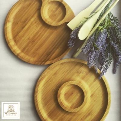 英國 WILMAX 竹製圓形分隔餐盤/輕食盤超值組 30.5CM