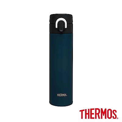 膳魔師 文青風超輕量彈蓋不鏽鋼保溫瓶0.4L(JNI-401-BBK)