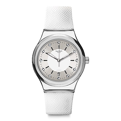 Swatch 51號星球機械錶 SISTEM INSIDE 透明水晶手錶