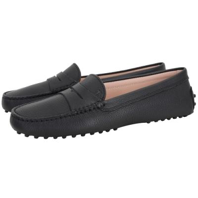 TOD'S Gommino 經典牛皮休閒豆豆鞋(女鞋/黑色)