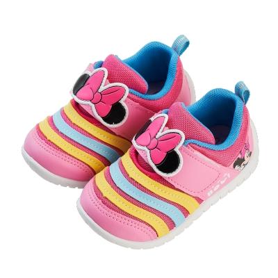 迪士尼童鞋 米妮 立體異材質拼接寶寶休閒鞋