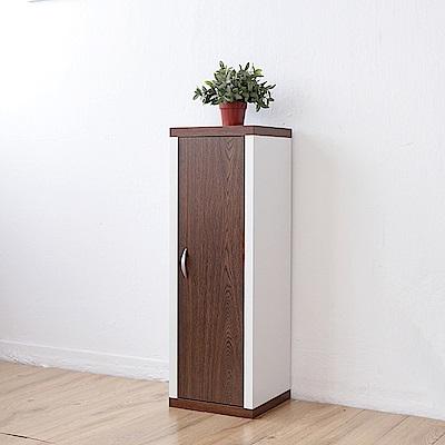 《Accessco》日系雙色三格一門厚板收納書櫃(33x30x90cm)