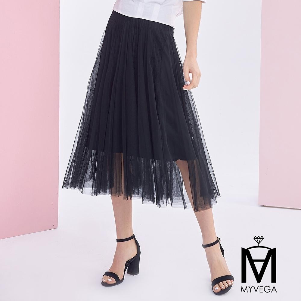 麥雪爾 MA蕾絲鏤空網格紗裙