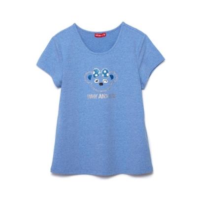 WHY AND 1/2 棉質萊卡T恤-親子裝媽媽