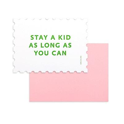 Dailylike 郵票造型卡片信封組-06 童心