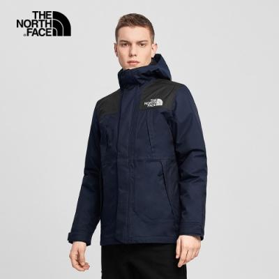 The North Face北面男款深藍色防水透氣三合一外套|4U7KTL6