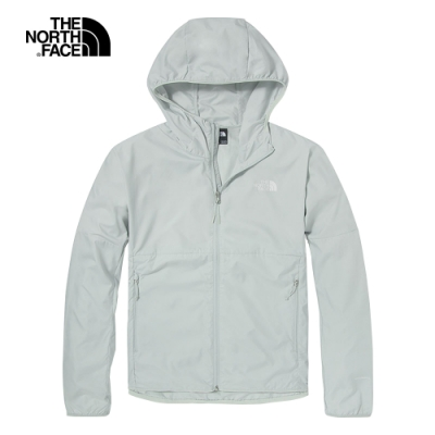 The North Face北面男款灰色防曬防潑水連帽防風外套|49B29B8