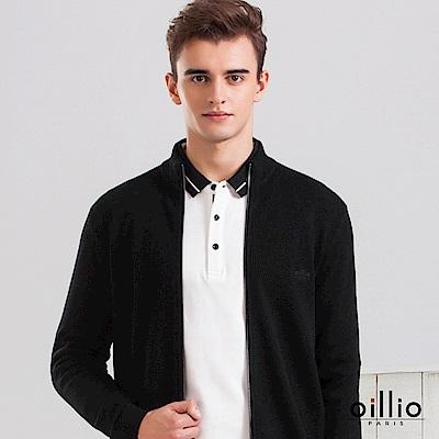 歐洲貴族 oillio 羊毛罩衫外套 純羊毛衣款 素面休閒 黑色