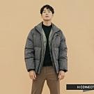 H:CONNECT 韓國品牌 男裝 - 立領千鳥格保暖外套  - 灰
