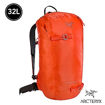Arcteryx Alpha SK 32L 防水防風登山背包 火焰紅