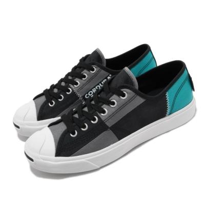 Converse 休閒鞋 Jack Purcell 穿搭 男女鞋 基本款 開口笑 拼接 帆布 情侶鞋 黑 灰 168975C