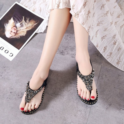 LN 波希米亞水鑽舒適平底鞋-2色