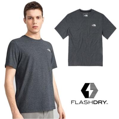 The North Face 男新款 FlashDry 閃電快乾短袖圓領吸濕排汗衣.機能性快排衫_深灰 N