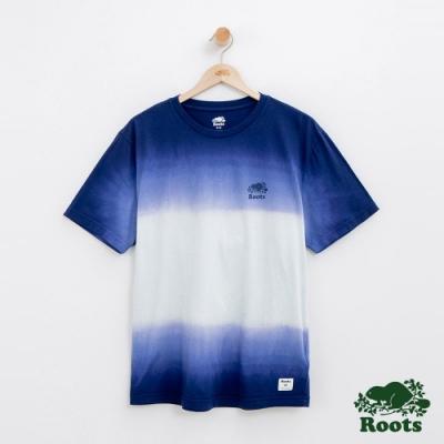 男裝Roots 漸層短袖T恤-藍
