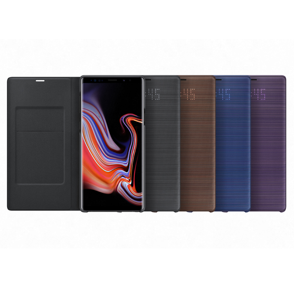 Samsung Galaxy Note 9 原廠LED皮革翻頁式皮套