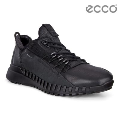 ECCO ZIPFLEX M 酷飛運動戶外休閒鞋 DYNEEMA皮革款 男鞋黑色