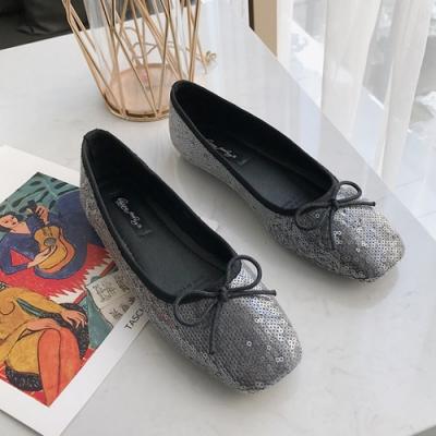 KEITH-WILL時尚鞋館 明星款璀璨年代花朵淑女鞋-黑