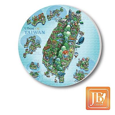 JB Design陶瓷吸水杯墊592_寶島天氣晴