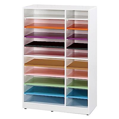 文創集 蘿倫環保2.3尺塑鋼20格置物櫃/收納櫃-69x31x108cm-免組