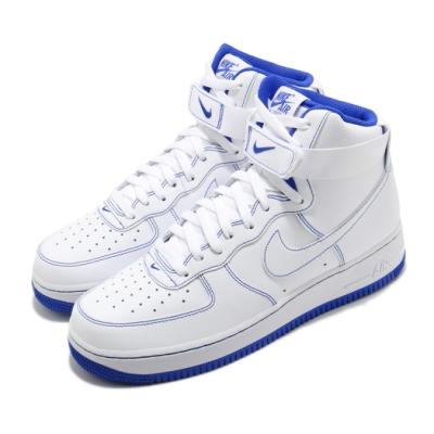 Nike 休閒鞋 Air Force 1 High 男鞋 經典款 皮革 質感 簡約 球鞋 穿搭 白 藍 CV1753101