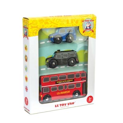 英國 Le Toy Van 小小工程師系列-倫敦市區交通工具玩具組 (經典3入)