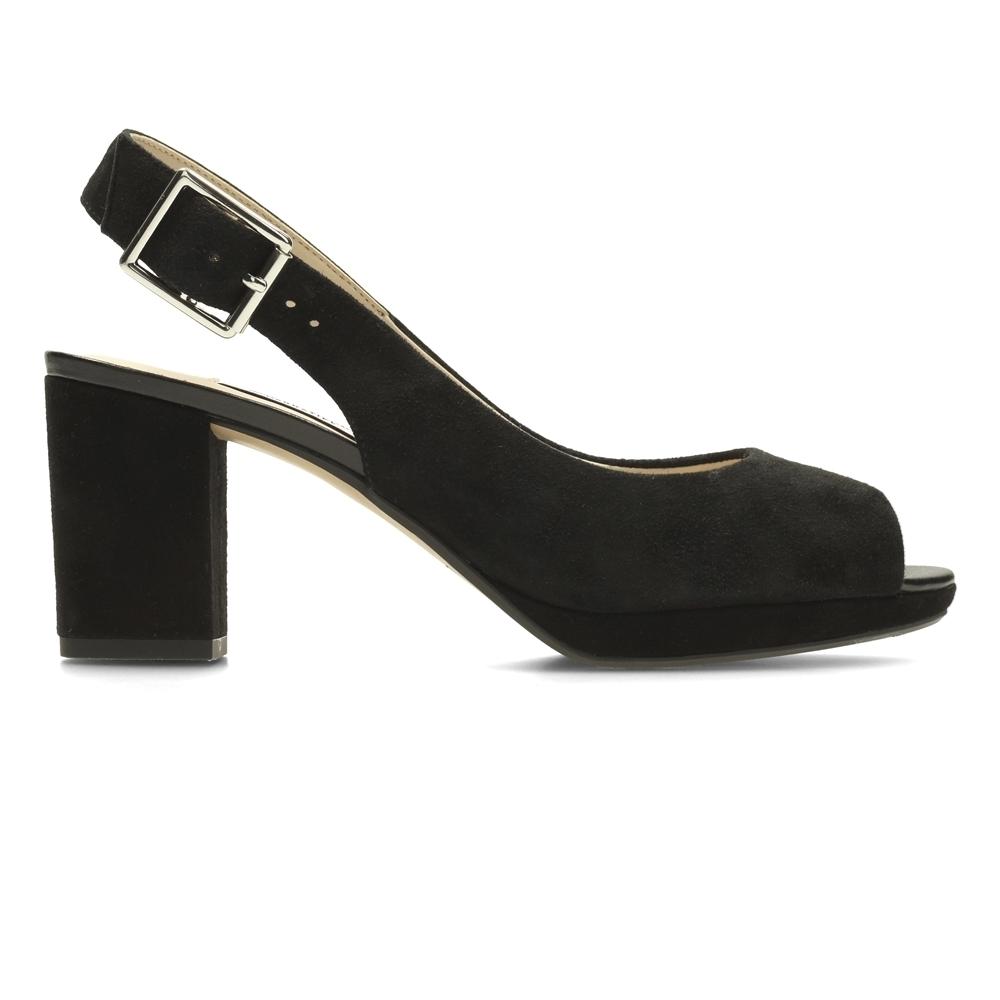 Clarks Kelda Spring 女高跟涼鞋 黑