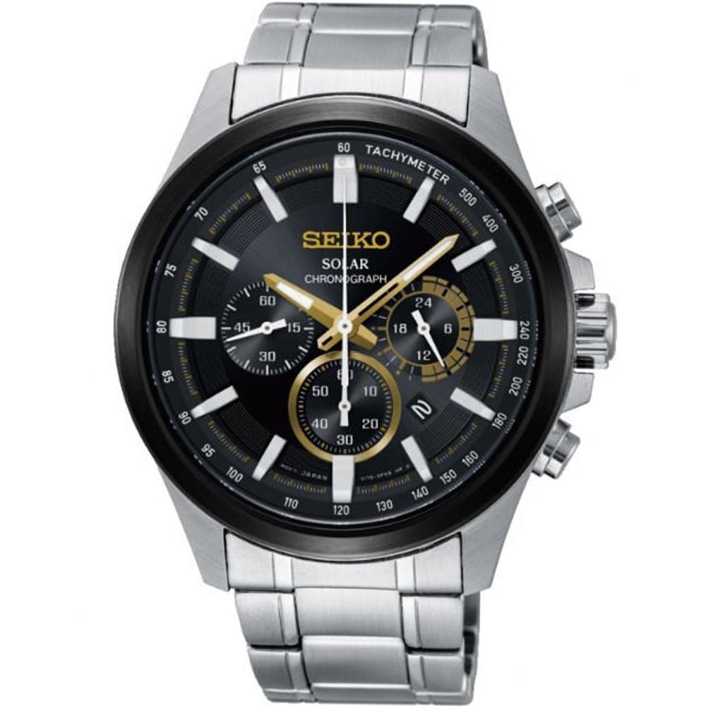 SEIKO Criteria 極速狂風太陽能計時腕錶 V175-0ER0D#SSC679P1
