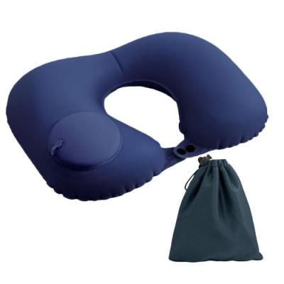 【2入組】按壓U型充氣護頸枕NP1(免吹充氣)