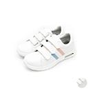艾樂跑Arriba女款 布質休閒鞋 氣墊鞋-白粉/全白 (AB-8090)