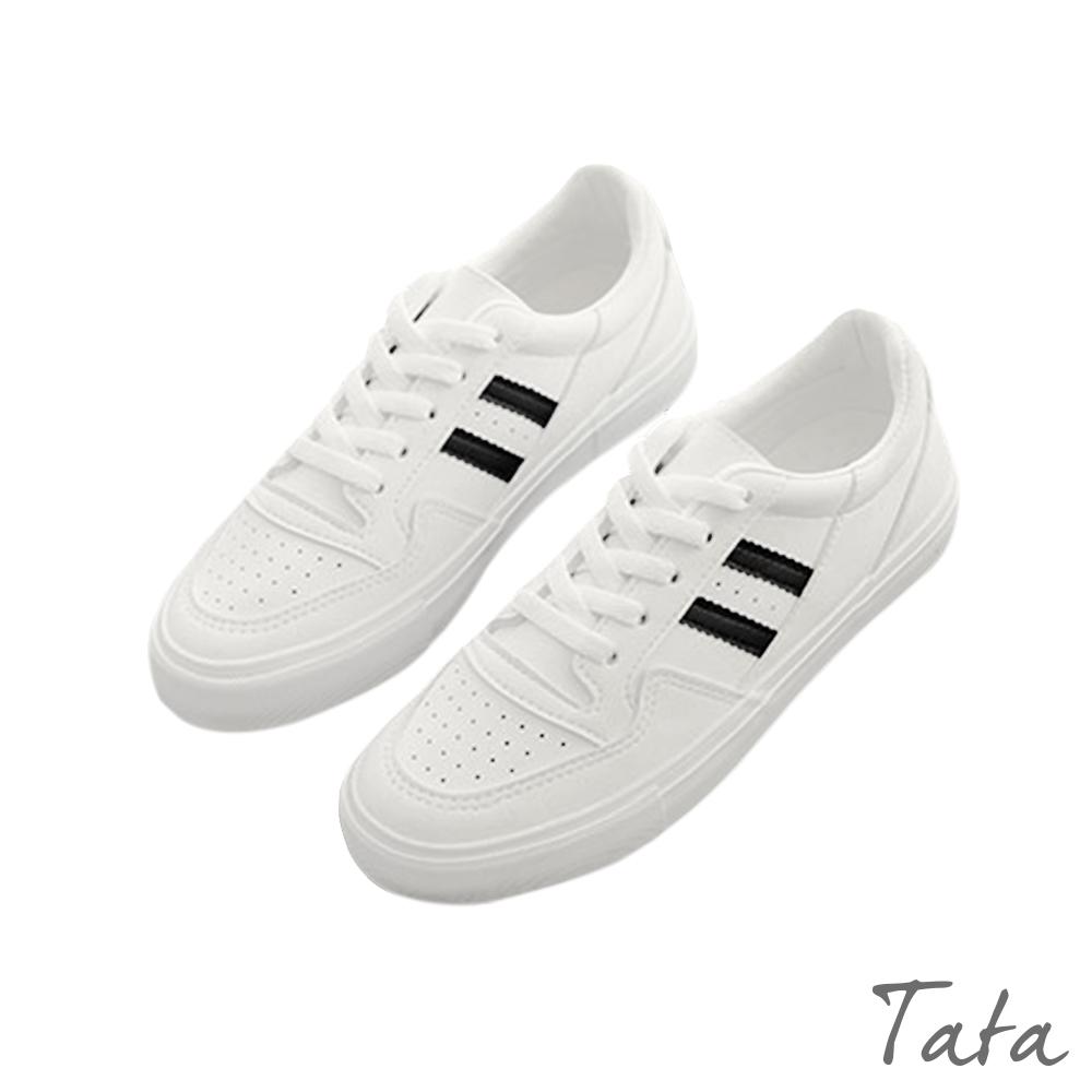 側邊雙條小白鞋 共四色 TATA