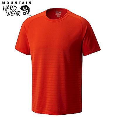Mountain Hardwear 男款-快排短袖上衣-紅色