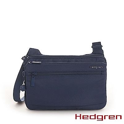 【Hedgren】INNER CITY貼身收納 側背包-寶藍