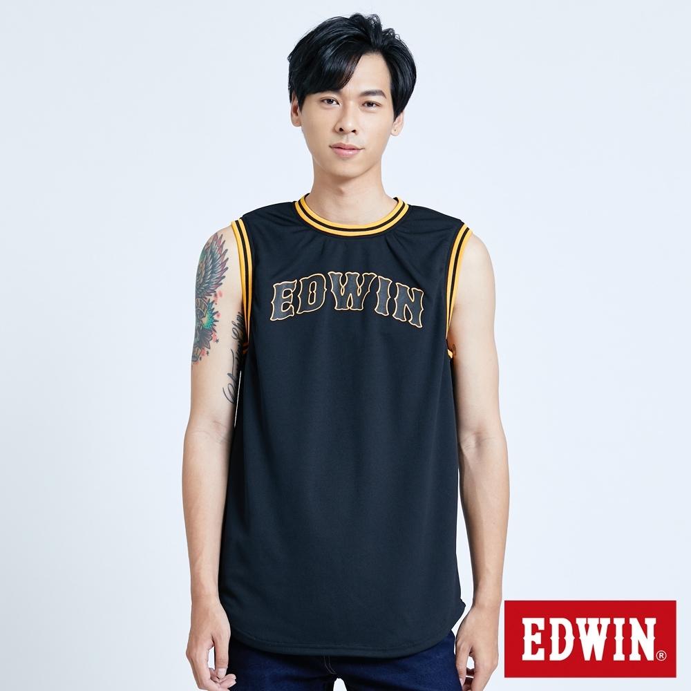 EDWIN 復古運動 雙面穿球衣背心-男-黑色