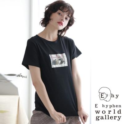 E hyphen 照片打印圖案短袖T恤