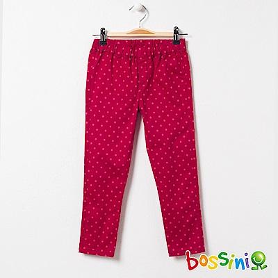 bossini女童-輕鬆窄管長褲03紫紅