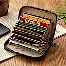 FOCUS原皮時尚黑12卡夾收納包(FGB2127)
