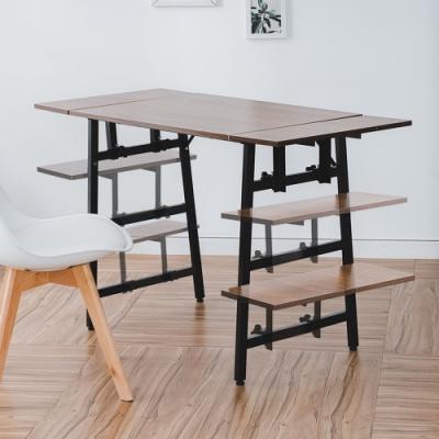 樂嫚妮 可調式層架書桌/辦公桌/工作桌/電腦桌-約寬120深55高75cm